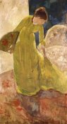 Mary Cassatt - Woman Standing Holding A Fan 1879