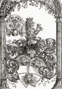 Albrecht Durer - Coat Of Arms With Three Lions Heads
