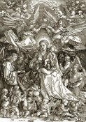 Albrecht Durer - The Virgin Crowned By Two Angels