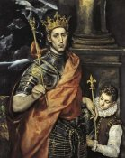 El Greco - Saint Louis King Of France With A Page