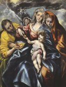 El Greco - The Holy Family With Saint Mary Magdalen