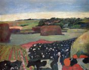 Paul Gauguin - Haystacks In Brittany