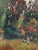 Paul Gauguin - Huts Under The Trees