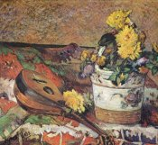 Paul Gauguin - Mandolin And Pot Of Flowers