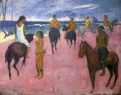Paul Gauguin - Riders On The Beach 1902
