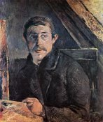 Paul Gauguin - Self Portrait At The Easel