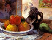 Paul Gauguin - Still Life With Apples A Pear And A Ceramic