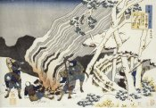 Hokusai - Hunters By A Fire In The Snow