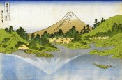 Hokusai - Mount Fuji Reflected In A Lake At Misaka In Kai 1834