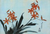 Hokusai - Orange Orchids