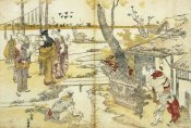 Hokusai - Peasants By A Stream 1797