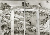 Hokusai - Seven Bridges In One View With Mt Fuji