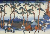 Hokusai - Travelers On The Tokaido Road At Hodogaya 1834