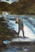 Winslow Homer - Fishing The Falls