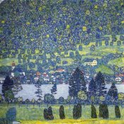 Gustav Klimt - Forest Slope In Unterach On The Attersee 1917