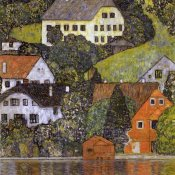 Gustav Klimt - Houses In Unterach On Lake Atter 1916