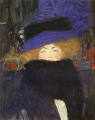 Gustav Klimt - Lady With Hat And Featherboa 1909