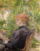 Henri Toulouse-Lautrec - Red Haired Girl In A Garden