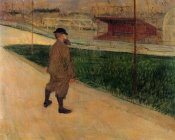 Henri Toulouse-Lautrec - Tristan Bernard At The Buffalo Stadium