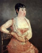 Edouard Manet - Jeanne Martin Pink Dress