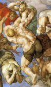 Michelangelo - Detail From The Last Judgement 19