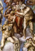 Michelangelo - Detail From The Last Judgement 25