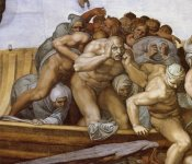 Michelangelo - Detail From The Last Judgement 28