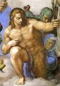 Michelangelo - Detail From The Last Judgement 33