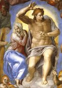 Michelangelo - Detail From The Last Judgement 4