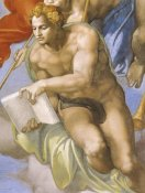 Michelangelo - Detail From The Last Judgement (Angel)
