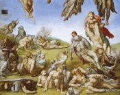 Michelangelo - Detail From The Last Judgement (Resurrection Of The Dead)