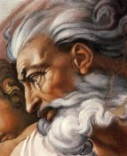 Michelangelo - Head Of God-3