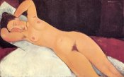 Amedeo Modigliani - Eyes Closed Reclining Nude