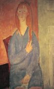 Amedeo Modigliani - Girl In Blue Dress