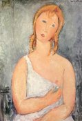 Amedeo Modigliani - Girl In White Chemise