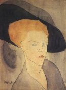 Amedeo Modigliani - Head Of A Woman Wearing Hat