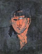 Amedeo Modigliani - Head Of A Young Woman