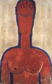 Amedeo Modigliani - Large Red Bust