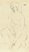 Amedeo Modigliani - Squatting Nude 2
