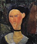 Amedeo Modigliani - Woman With A Velvet Ribbon