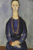 Amedeo Modigliani - Woman With Red Necklace