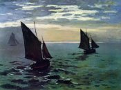 Claude Monet - Boats Leaving The Harbor