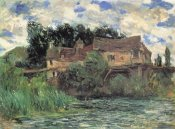Claude Monet - Houses On The Old Bridge At Vernon 1883