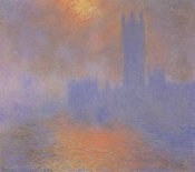 Claude Monet - London Parliament With The Sun Breaking Through Fog