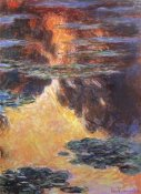 Claude Monet - Nympheas Sunset Effect 1907