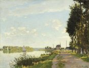 Claude Monet - Riverside Walk At Argenteuil 1872