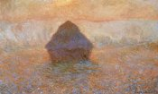 Claude Monet - Stack Of Wheat Sun In The Mist 1891