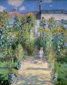 Claude Monet - The Artists Garden At Vetheuil 1881