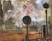 Claude Monet - The Gare Saint-Lazare The Signal