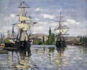 Claude Monet - The Seine At Rouen 1872